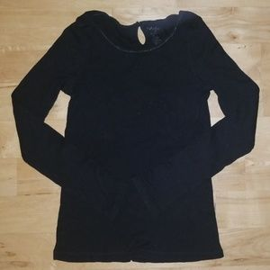 Black thermal long sleeve shirt